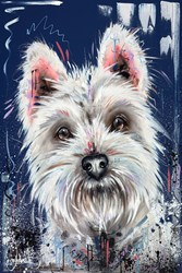 Westie Love by Samantha Ellis -  sized 24x36 inches. Available from Whitewall Galleries